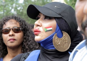 Sudan Revolution Women in Blue